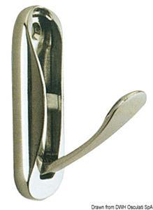 Appendiabito ottone cromato 75x25 mm [-]