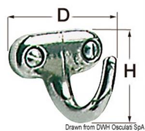 Gancetto inox 25x25 mm [Osculati]