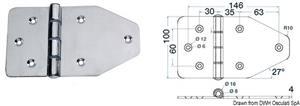 Maxi cerniera 180x100 mm [Osculati]