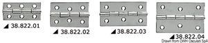 Cerniera inox mm 70x40 [Osculati]