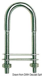 Cavallotto inox 110 mm piastrina 60x15 mm [Osculati]
