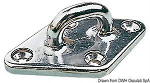 Golfare inox 4 fori 79 mm [Osculati]