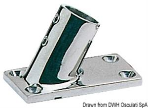 Base inox pulpito 60° 25 mm [Osculati]