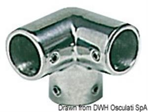 Angolare inox 3 vie 90° 22 mm [Osculati]