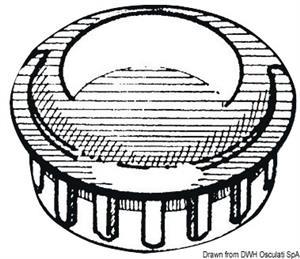 Cappuccio terminale ABS cromato 25 mm [Osculati]