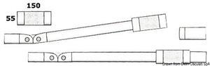 Chiusura telescopica con molla 30x1,5 mm [Osculati]