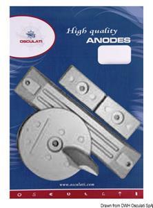 Kit anodi fuoribordo alluminio Honda 75/225 Hp [Osculati]