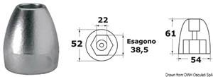 Anodo magnesio ogiva Bravo III  [OSCULATI]