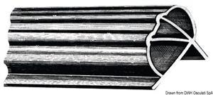 Profilo PVC flex pontili m2,50  [OSCULATI]
