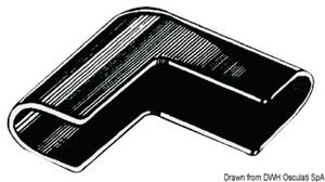 Angolare parabordo nylon nero [Osculati]
