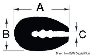 Profilo PVC bianco 3,5mm 24m  [OSCULATI]
