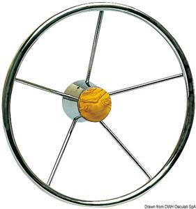 Volante inox 5 razze 320 mm [Osculati]