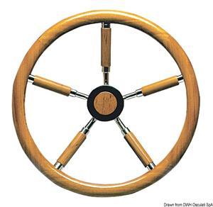 Timone inox e legno 400 mm [Osculati]