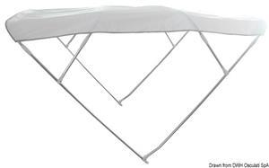 Capottina Bimini Depth 4 archi 180/190 cm bianca [Osculati]