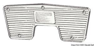 Piastra proteggi poppa 230 x 85 mm [Osculati]