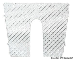 Tavoletta proteggi poppa plastica 45 x 36 cm [Osculati]