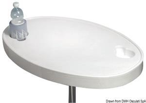 Tavolo ABS bianco 77 x 51 cm [Osculati]