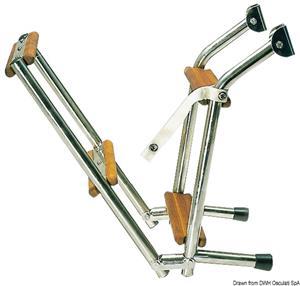 Scaletta inox/legno 5 gradini [Osculati]