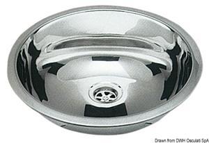 Lavello inox tondo 387 mm [Osculati]