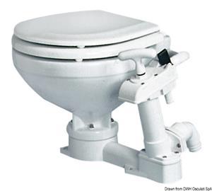 WC manuale compact tavoletta legno [Osculati]