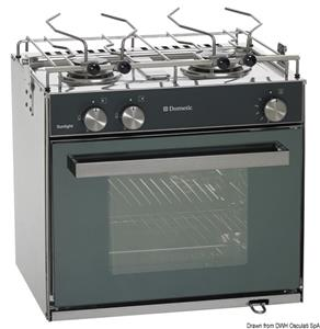 Cucina con forno a gas Smev Sunlight Slim 2 fuochi [Smev]