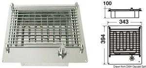 Barbecue elettrico compatto in acciaio inox aisi 316 [OSCULATI]