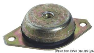 Supporto antivibrante zincato 600 kg [Osculati]