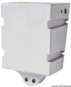 Serbatoio in polipropilene bianco per acqua potabile da lt 60, per montaggio a parete [Osculati]
