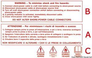 Stiker adesivo WARNING  [Osculati]