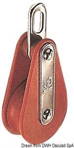 Bozzello Hye tufnol 1 puleggia EO 10x35 [HYE]