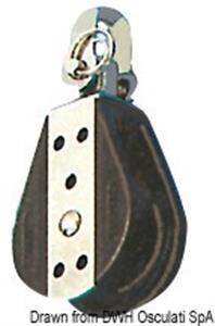Bozzello sfere 1 puleggia girevole 12x57 [Viadana]