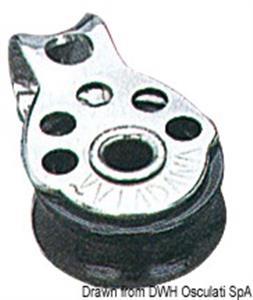 Microbozzello inox 1 puleggia 17x5 [Viadana]