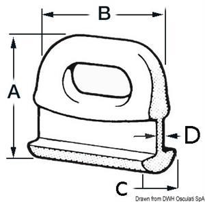 Cursori nylon curvi 10 mm [Osculati]