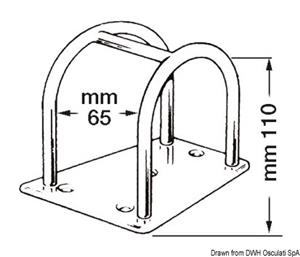 Porta tangone inox mm 110  [OSCULATI]