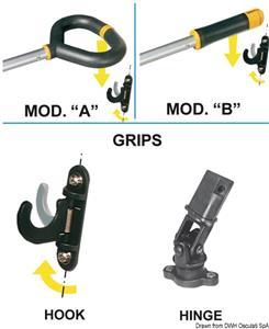 Stick Friend dritto 750/1043 mm [Osculati]