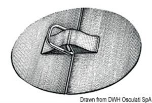 """Anelli a """"D"""" in acciaio inox con supporto in EPDM [Osculati]"""