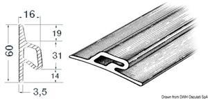 Profilo paracolpi 3,5x60x16 mm nero [Osculati]