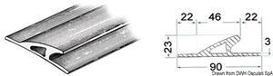 Profilo paracolpi 3x90x26 mm nero [Osculati]