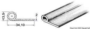 Profilo grigio 2x34,1x13,5 mm [Osculati]