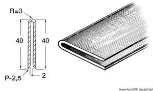 Profilo grigio 2x2x40 mm [Osculati]