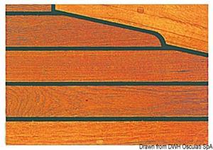 Listello teak per ponti 45 mm [ARC]