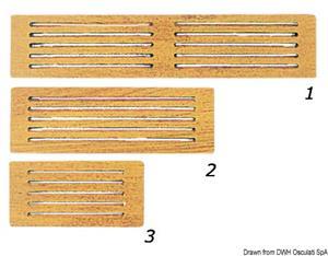 Frontalino protezione teak 125x65 mm [ARC]