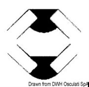 Profilo teak 42x15x15  [OSCULATI]