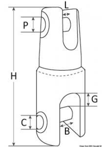 Giunto Mega inox fino a 18 mm [Douglas marine]
