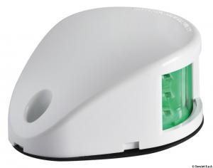 Fanale di via Mouse Deck verde corpo ABS bianco [Osculati]