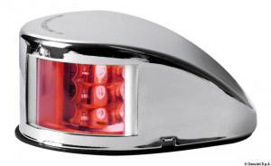 Fanale di via Mouse Deck rosso corpo inox [Osculati]