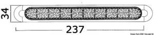 Plafoniera lineare in finitura inox AISI 316