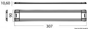 Plafoniera ultrasottile 48 LED 12V