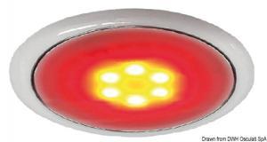 Plafoniera LED senza incasso Day/Night cromata [Osculati]