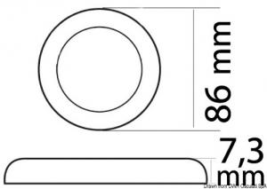 Faretto LED Procion senza incasso, no interruttore [Osculati]